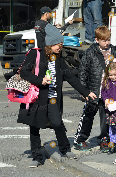 Philip Seymour Hoffman Photo - May 7 2014 New York CityPhilip Seymour Hoffmans former partner Mimi ODonnell takes hger children to school on May 7 2014 in New York City