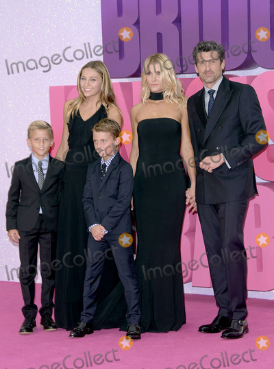 Jillian Dempsey Photo - September 5 2016 LondonPatrick Dempsey (R) wife Jillian Dempsey and children Darby Galen Dempsey Tallula Fyfe Dempsey and Sullivan Patrick Dempsey arriving at the World Premiere of Bridget Joness Baby at the Odeon Leicester Square on September 5 2016 in London England By Line FamousACE PicturesACE Pictures IncTel 6467670430