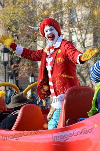 Ronald McDonald Photo - November 26 2015 New York CityRonald McDonald attending the 89th Annual Macys Thanksgiving Day Parade on November 26 2015 in New York CityCredit Kristin CallahanACE PicturesTel (646) 769 0430