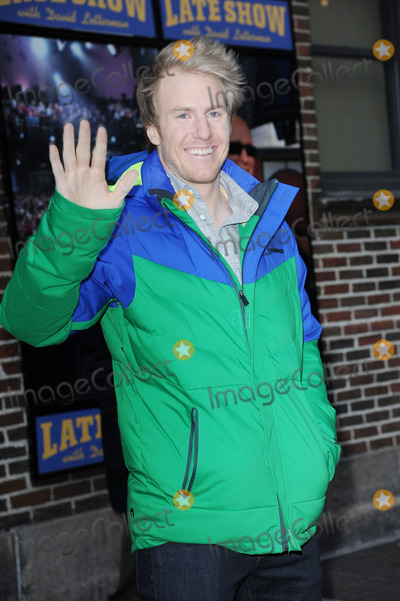Ted Ligety Photo - February 25 2014 New York CityTed Ligety after taping an appearance on the Late Show with David Letterman on February 25 2014 in New York City