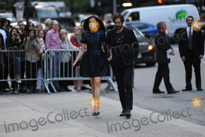 LWren Scott Photo - May 2 2014 New York CityFamke Janssen and Cole Frates attending a memorial service for L Wren Scott at St Bartholomews Church in New York City on May 2 2014