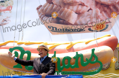 AN ATTENDEE Photo - NEW YORK JULY 4 2005    An attendee at the annual Fourth of July International Hot Dog Eating Contest at Nathans Famous on Coney Island It is the fifth year in a row that Takeru Kobayashi has won the contest This year he ate 49 hotdogs in 12 minutes