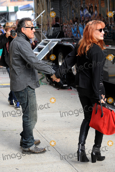 Patti Scialfa Photo - August 6 2015 New York CityBruce Springsteen and  Patti Scialfa made an appearance on the Daily Show with Jon Stewart on August 6 2015 in New York City Credit Kristin CallahanACE Picturestel (212) 243 8787 or (646) 769 0430