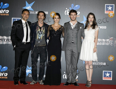 Astrid Berges Frisbey Photo - Spanish actors Juan Carlos Vellido Oscar Jaenada Penelope Cruz British actor Sam Claflin and French actress Astrid-Berges Frisbey at the Pirates Of The Caribbean On Stranger Tides premiere at Kinepolis Cinema on May 18 2011 in Madrid Spain