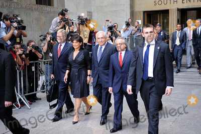 Anne Sinclair Photo - Former International Monetary Fund (IMF) director Dominique Strauss-Kahn departs Manhattan State Supreme Court with his wife Anne Sinclair  and attorney Benjamin Brafman on August 23 2011 in New York City The Manhattan District Attorneys office has filed a motion to dismiss the sexual assault charges against Strauss-Kahn  August 23 2011 in New York City
