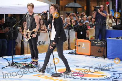 Hot Chelle Rae  Photo - July 20 2012 New York City Nash Overstreet and Ryan Follese of Hot Chelle Rae perform on NBCs Today at Rockefeller Plaza on July 20 2012 in New York City