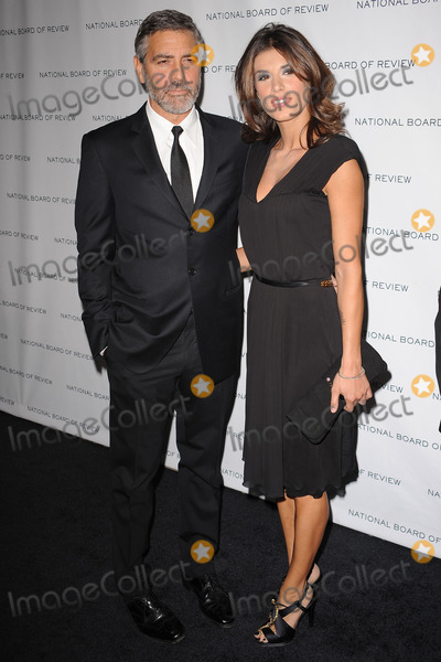 Elizabetta Canalis Photo - Actor George Clooney and Elizabetta Canalis arriving at the National Board of Review of Motion Pictures Awards gala at Cipriani 42nd Street on January 12 2010 in New York City