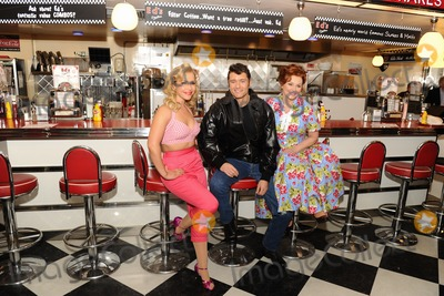 Cheryl Baker Photo - Heidi Range Ben Freeman and Cheryl Baker at the photocall for Happy Days The Musical at Eds Easy Diner Trocadero London 08012014 Picture by Steve Vas  Featureflash