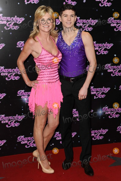 Anthea Turner Photo - Anthea Turner and Luke Campbell arriving for the launch of Dancing on Ice 2013 at LWT South Bank London 03012013 Picture by Steve Vas  Featureflash