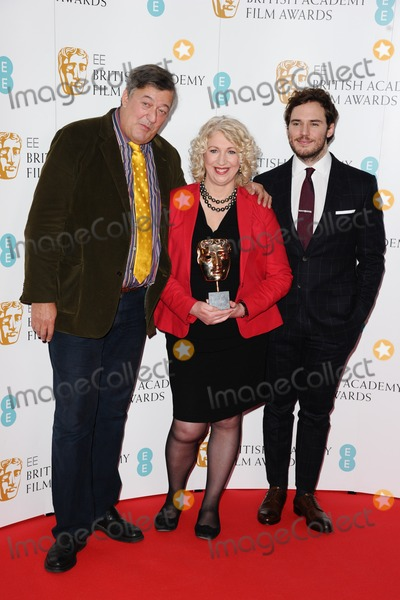 Anne Morrison Photo - Stephen Fry Anne Morrison and Sam Claflin at the announcement of nominations for the 2015 EE BAFTA Film Awards BAFTA London 09012015 Picture by Steve Vas  Featureflash