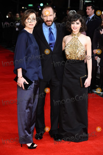 Kristin Scott Thomas Photo - Kristin Scott Thomas Ralph Fiennes and Felicity Jonesarrives for the premiere of The Invisible Woman at the Odeon Kensington London 27012013 Picture by Steve Vas  Featureflash