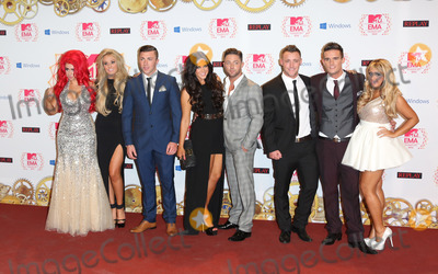 James Tindale Photo - Holly Hagan Vicky Pattison Ricci Guarnaccio Charlotte-Letitia Crosby Gaz Beadle James Tindale Scott Timlin and Sophie Kasaei of Geordie Shore in the press room for the The MTV EMAs 2012 held at Festhalle Frankfurt Germany 11112012 Picture by Henry Harris  Featureflash