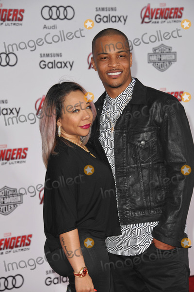 TI Tiny Photo - Hip-hop artist TI  wife Tameka Tiny Cottle-Harris at the world premiere of Avengers Age of Ultron at the Dolby Theatre HollywoodApril 13 2015  Los Angeles CAPicture Paul Smith  Featureflash