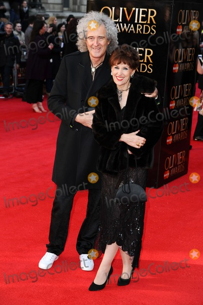 Anita Dobson Photo - Brian May and Anita Dobson arrives for the Olivier Awards 2012 at the Royal Opera House Covent Garden London 15042012 Picture by Steve Vas  Featureflash