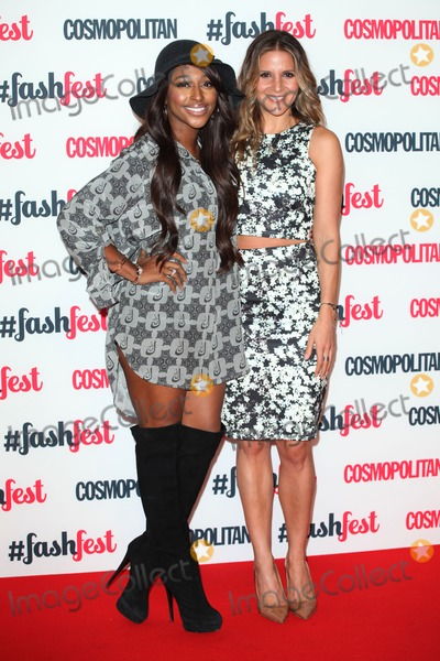 Amanda Byram Photo - Alexandra Burke and Amanda Byram arriving for the Cosmopolitan Fashfest at Battersea Evolution London 18092014 Picture by Alexandra Glen  Featureflash