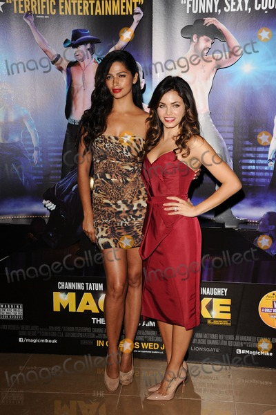 Jenna Dewas Photo - Camila Alves and Jenna Dewas arriving for the Magic Mike premiere at the Mayfair Hotel London 10072012 Picture by Steve Vas  Featureflash