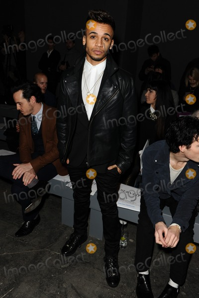 Aston Merrigold Photo - Aston Merrigold at front row for the TOPMAN Designs show as part of London Collections Men AW14 London  06012014 Picture by Steve Vas  Featureflash