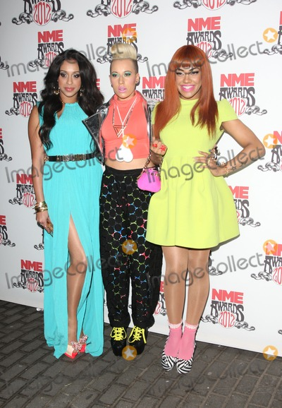 Alexandra Buggs Photo - Alexandra Buggs Karis Anderson and Courtney Rumbold of StooShe arriving for the NME Awards 2012 held at The Brixton Academy London 29022012 Picture by Henry Harris  Featureflash