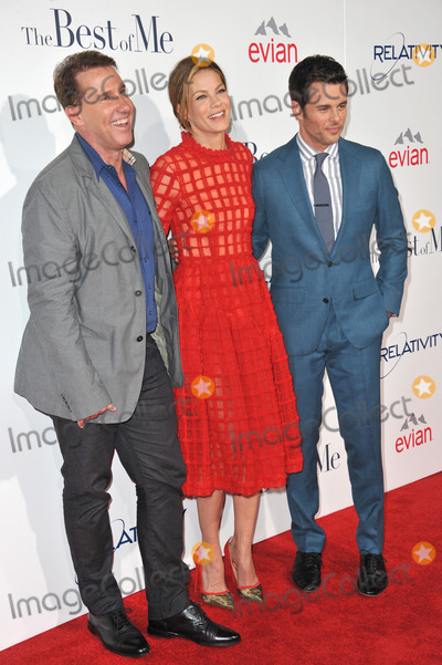 Nicholas Sparks Photo - Michelle Monaghan  James Marsden  writer Nicholas Sparks (left) at the world premiere of their movie The Best of Me at the Regal Cinemas LA LiveOctober 7 2014  Los Angeles CAPicture Paul Smith  Featureflash