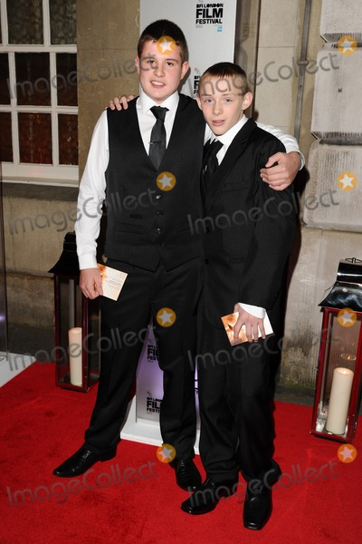 Shaun Thomas Photo - Shaun Thomas and Connor Chapman arrives for the bfi London Film Festival Awards 2013 at Banquetting House London 19102013 Picture by Steve Vas  Featureflash