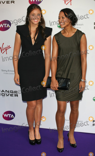 Anne Keothavong Photo - Laura Robson and Anne Keothavong arriving for the Pre Wimbledon Party Kensington Roof Gardens London 16072011  Picture by Alexandra Glen  Featureflash
