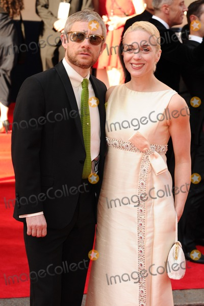 Amanda Abbington Photo - Martin Freeman and wife Amanda Abbington arriving for the Arqiva British Academy Television Awards (Bafta TV Awards) at Theatre Royal London 18052014 Picture by Steve Vas  Featureflash