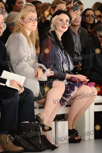 Amber Atherton Photo - Amber Atherton and Kate Nash at the Bora Aksu catwalk show during London  Fashion Week SS14 Somerset House London 13092013 Picture by Steve Vas  Featureflash