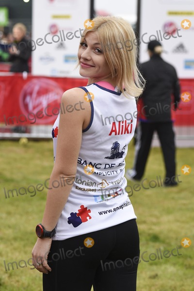 Aliki Chrysochou Photo - Aliki Chrysochou at the start of the 2015 London Marathon Blackheath Common Greenwich London 26042015 Picture by Steve Vas  Featureflash