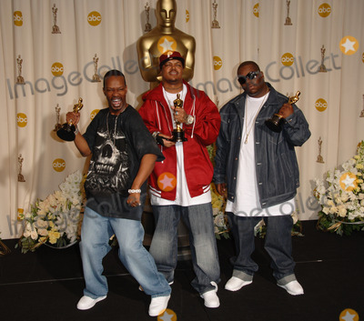Jordan Houston Photo - JORDAN HOUSTON PAUL BEAUREGARD and CEDRIC COLEMAN of THREE 6 MAFIA winners Best Song for Its Hard Out Here For A Pimp at the 78th Annual Academy Awards at the Kodak Theatre in HollywoodMarch 5 2006  Los Angeles CA 2006 Paul Smith  Featureflash