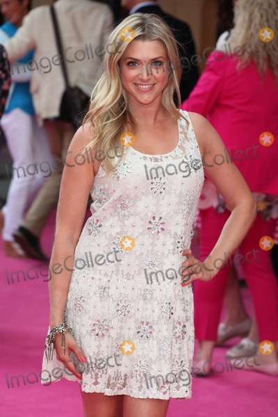 Anna Williamson Photo - Anna Williamson arriving for the Walking On Sunshine UK Premiere at Vue West End London 11062014 Picture by Alexandra Glen  Featureflash
