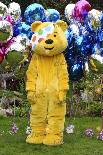 Pudsey Bear Photo - Pudsey Bear celebrating the launch of BBC Children in Need POP Goes the Musical at Kensington Roof Gardens west London 31082011 Picture by Steve Vas  Featureflash
