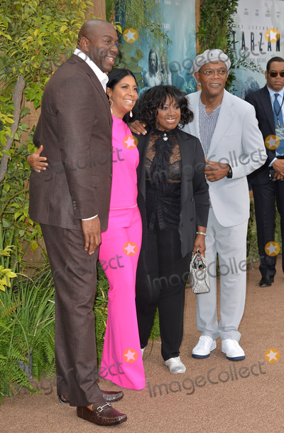 Earvin Magic Johnson Photo - LOS ANGELES CA June 27 2016 Earvin Magic Johnson  wife Cookie Johnson with actor Samuel L Jackson  wife actress LaTanya Richardson Jackson at the world premiere of The Legend of Tarzan at the Dolby Theatre HollywoodPicture Paul Smith  Featureflash