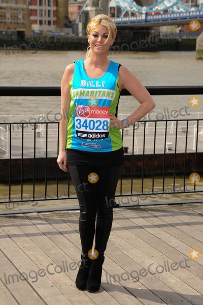 Billie Mucklow Photo - Billi Mucklow at the photocall for celebrities running the London marathon 2012 Tower Bridge London 21042012 Picture by Steve Vas  Featureflash
