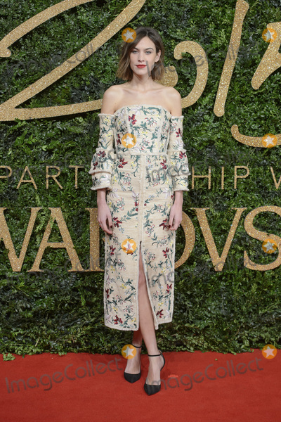 Alexa Chung Photo - Alexa Chung at the British Fashion Awards 2015 at the Coliseum Theatre LondonNovember 23 2015  London UKPicture Dave Norton  Featureflash