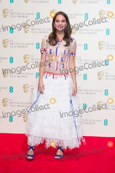 Alicia Virkander Photo - Alicia Virkander in the Press Room at the BAFTAs 2014Royal Opera House London 16022014 Picture by Dave Norton  Featureflash