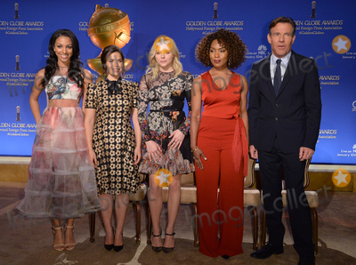 Angela Basset Photo - Miss Golden Globe 2016 Corinne Foxx (left) America Ferrera Chloe Grace Moretz Angela Bassett  Dennis Quaid at the Beverly Hilton Hotel to announce the nominations for the 73rd Annual Golden Globe AwardsDecember 10 2015  Los Angeles CAPicture Paul Smith  Featureflash