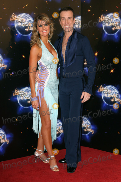 Erin Boag Photo - Erin Boag and Anton Du Beke arriving for the 2011 Strictly Come Dancing Launch at the BBC Centre London 07092011 Picture by Alexandra Glen  Featureflash