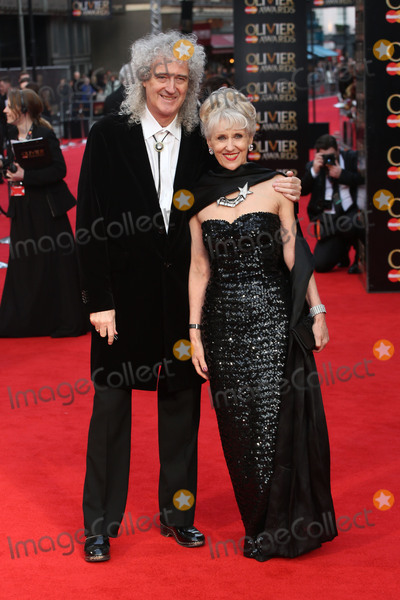 Anita Dobson Photo - Brian May  Anita Dobson at the Olivier Awards 2016 held at the Royal Opera House London April 3 2016  London UKPicture James Smith  Featureflash