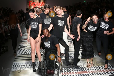 Ade Adepitan Photo - Ade Adepitan at the LFW Fashion For Relief charity fashion show - catwalk held at Somerset house London 19022015 Picture by James Smith  Featureflash