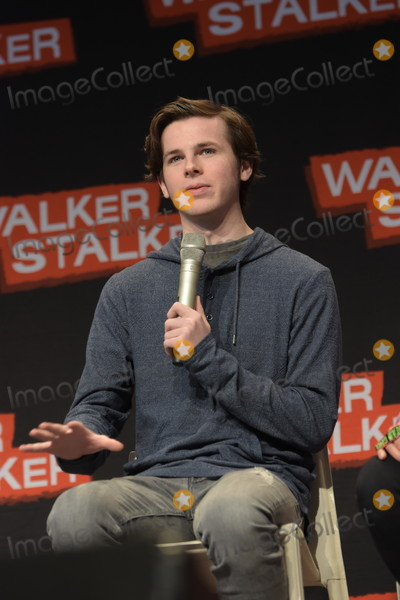 Chandler Riggs Photo - MANNHEIM GERMANY - MARCH 18 Actor Chandler Riggs (The Walking Dead) panel at Walker Stalker Germany convention (Photo by Markus Wissmann)