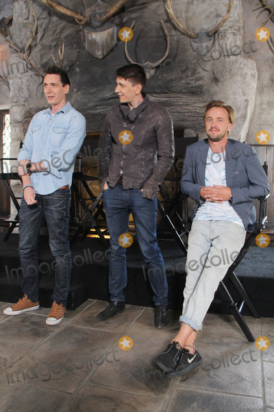 Oliver Phelps Photo - James Phelps Oliver Phelps Tom Felton  04062016 The Wizarding World of Harry Potter Media Preview Day held at the Universal Studios Hollywood in Hollywood CA Photo by Kazuki Hirata  HollywoodNewsWirenet