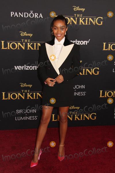 Yara Shahidi Photo - Yara Shahidi 07092019 The Lion King Premiere held at Dolby Theatre in Hollywood CA Photo by Kazuki Hirata  HollywoodNewsWireco