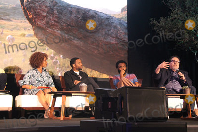 Alfre Woodard Photo - Alfre Woodard Chiwetel Ejiofor Donald Glover Jon Favreau  07102019 The Lion King Press Conference held at the Montage Beverly Hills Luxury Hotel in Beverly Hills CA Photo by Izumi Hasegawa  HollywoodNewsWireco