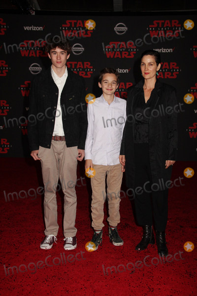 Carrie Anne Moss Photo - Owen Roy Jaden Roy Carrie-Anne Moss 12092017 The World Premiere of Lucasfilms Star Wars The Last Jedi held at Shrine Auditorium in Los Angeles CA Photo by Izumi Hasegawa  HollywoodNewsWireco