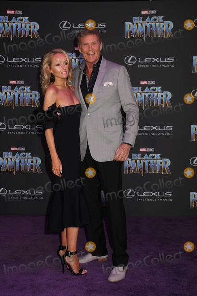 Hayley Roberts Photo - Hayley Roberts David Hasselhoff 01292018 The World Premiere of Black Panther held at The Dolby Theatre in Los Angeles CA Photo by Izumi Hasegawa  HollywoodNewsWireco