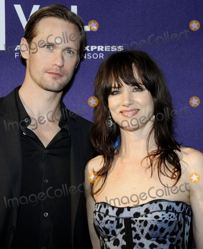 Alexander Skarsgard- Photo - NEW YORK NY - APRIL 24  Actors Alexander Skarsgard and Juliette Lewis (R) attend the premiere of Metropia at the Village East Cinemas during the 2010 Tribeca Film Festival on April 24th 2010 in New York City