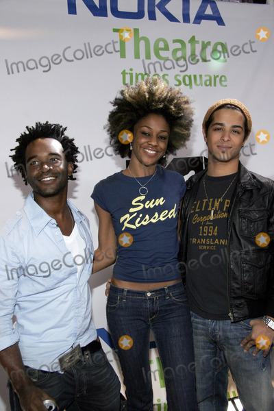 Nadia Turner Photo - (L-R) MTV VJ Jeremy Hassell singer Nadia Turner and singer Mario Vasquez arrive to MTV and Nokias Live Music Series Nokia Unwired in Times Square on September 27 2005 in New York City