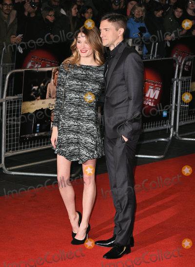 Ashley Hinshaw Photo - London UK Ashley Hinshaw and Topher Grace at London Film Festival Truth Gala Film Premiere at Odeon Leicester Square London on Saturday 17 October 2015 Ref LMK392-58551-181015Vivienne VincentLandmark Media WWWLMKMEDIACOM