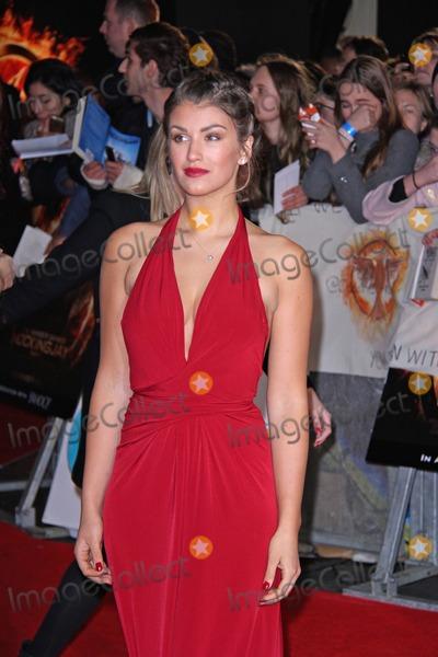 Amy Willerton Photo - London UK Amy Willerton  at The Hunger Games Mockingjay Part 1 Premiere held at The Odeon Leicester Square 10 November 2014Ref LMK394-50051-111114Brett CoveLandmark MediaWWWLMKMEDIACOM