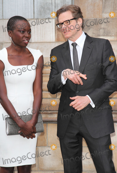 Danai Gurira Photo - London UK Danai Gurira and Colin Firth at LCM SS 2015 One For The Boys Charity Ball at the Natural History Museum Kensington London 15th June 2014Ref LMK73-48828-160614Keith MayhewLandmark Media WWWLMKMEDIACOM